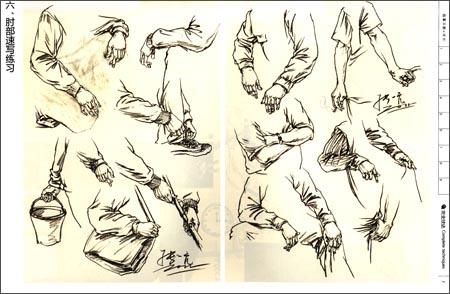 人物速写鞋子的画法
