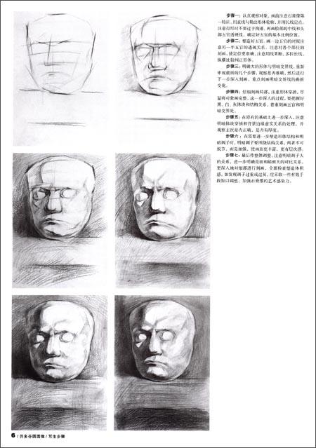 亚历山大素描石膏像展示