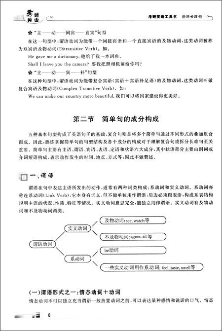 考研英语工具书:语法长难句