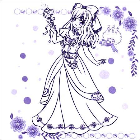 贝儿公主简笔画方法