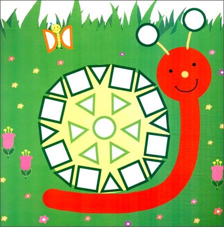 马赛克小贴画:美丽小花园(2-4岁)(500块不干胶立体)