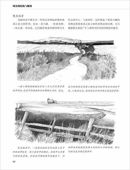 西方经典美术技法译丛 英国风景素描教程 巴林