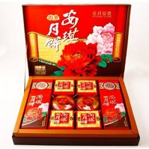 安琪月饼礼盒花开富贵705g gift box