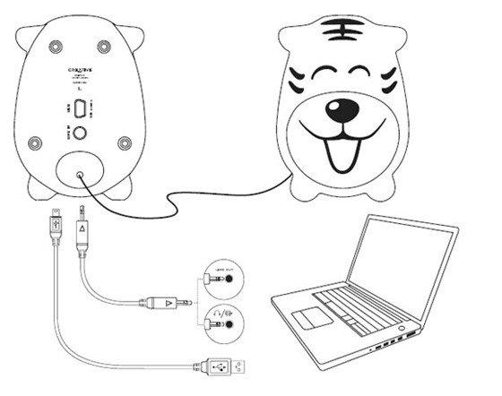 通过您电脑桌面右下角的小喇叭控制,轻松调节音箱播放音量大小.