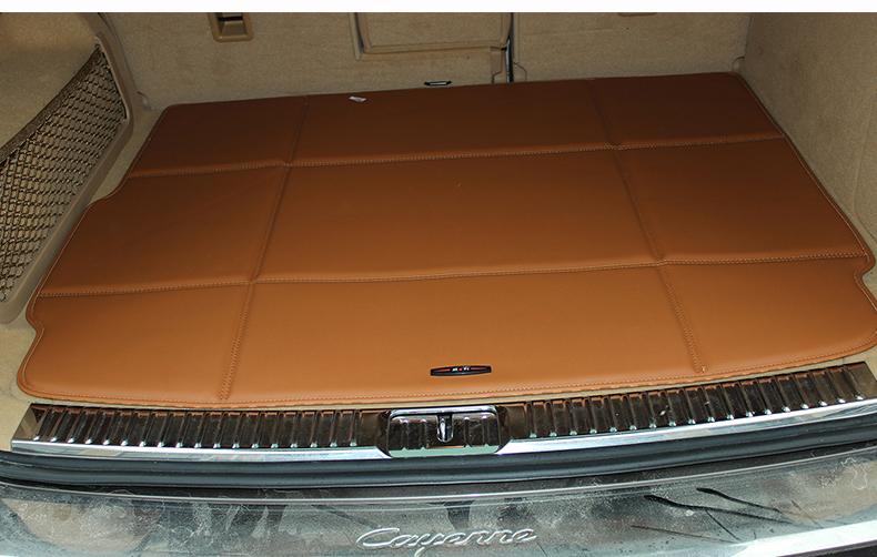 威利 后备箱垫 保时捷卡宴五座皮革后备箱垫 s 棕色