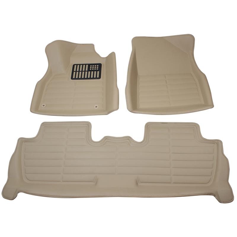 回至 威利 脚垫 标致3008五座皮革大包围脚垫(带卡扣)棕色2013年