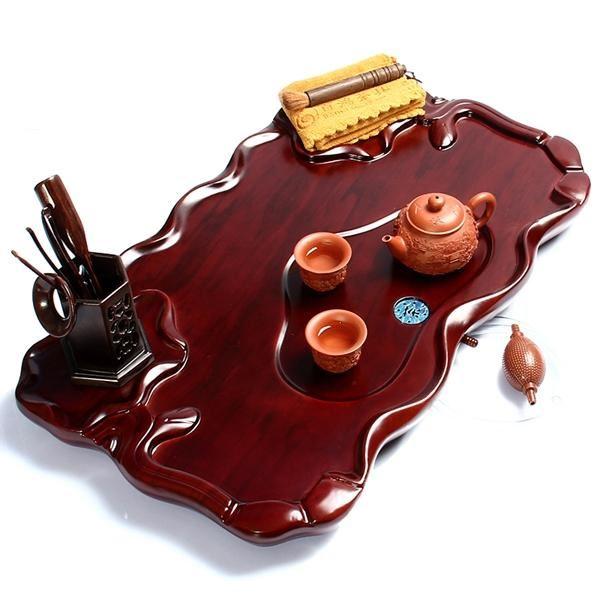 该茶盘采用荷叶结构设计