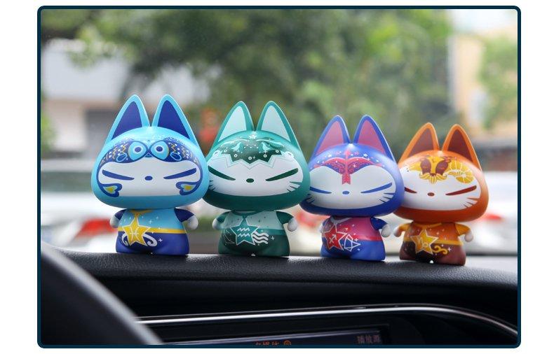正版拽猫汽车摆件 卡通汽车用品创意装饰品可爱公仔车