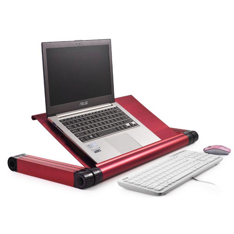 omax a7l 加长版 笔记本电脑桌(配双风扇) 红色