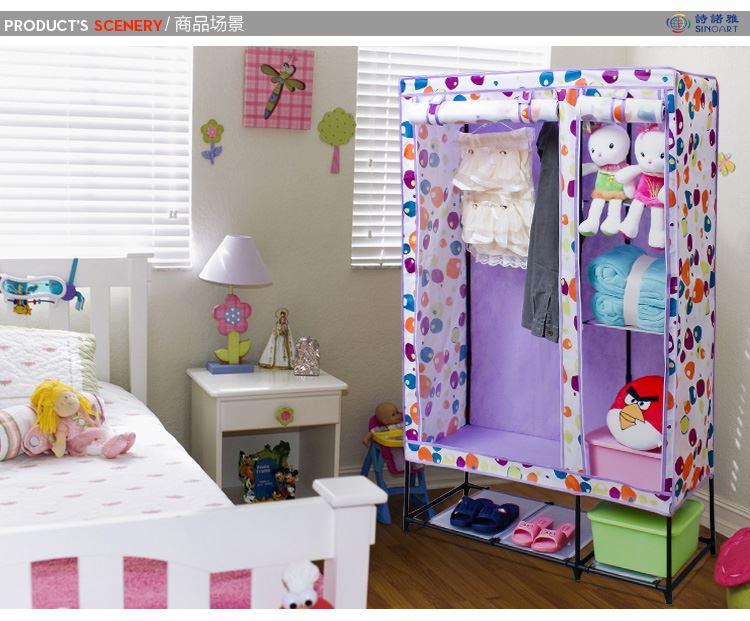 簡易布衣柜 韓式鋼架折疊組合衣櫥衣物收納整理柜