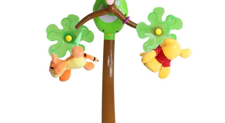 disney 迪士尼婴幼儿玩具维尼成长宝宝床铃