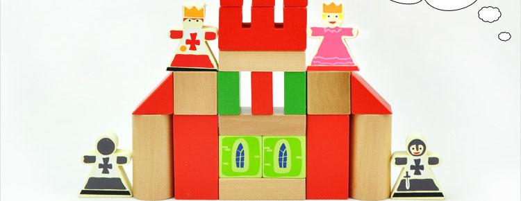 颗粒积木城堡图纸