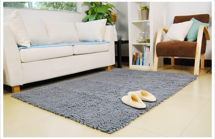 雪尼尔客厅卧室茶几地毯120*170cm