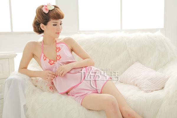 情趣内衣 甜美女士情趣睡衣制服诱惑粉色套装