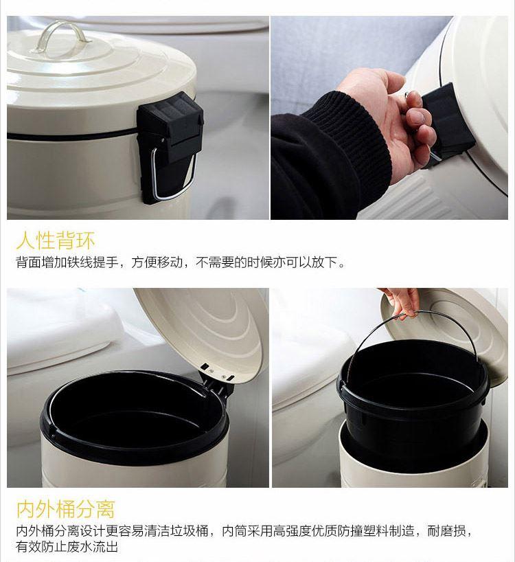 创意罗马纹带盖垃圾桶脚踏家用厨房手提垃圾桶 设计灵感来源于古罗马