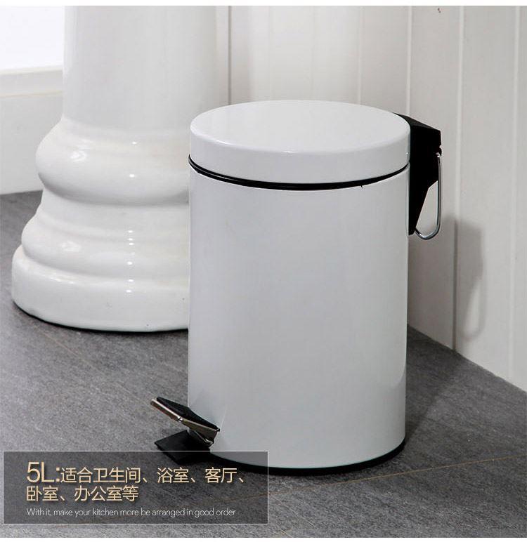 回至orange 欧润哲 5l圆形脚踏垃圾桶 厨房收纳桶子 可爱家用zakka图片