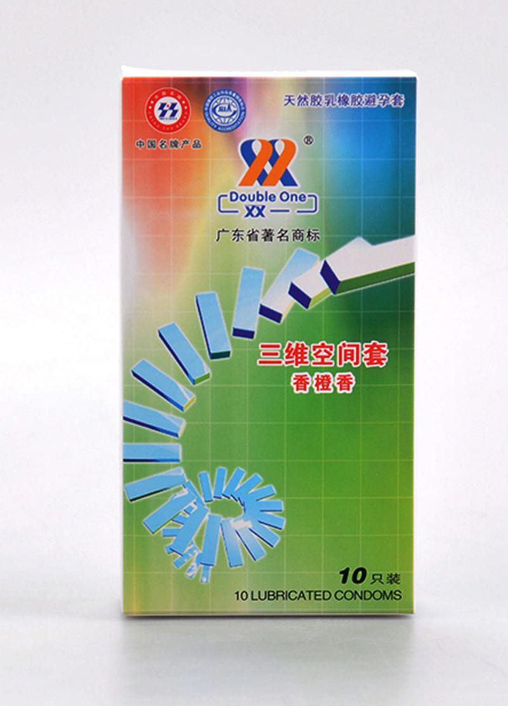 双一 安全套 成人避孕套20只装组合 三维空间套香橙香光面10只装 三维