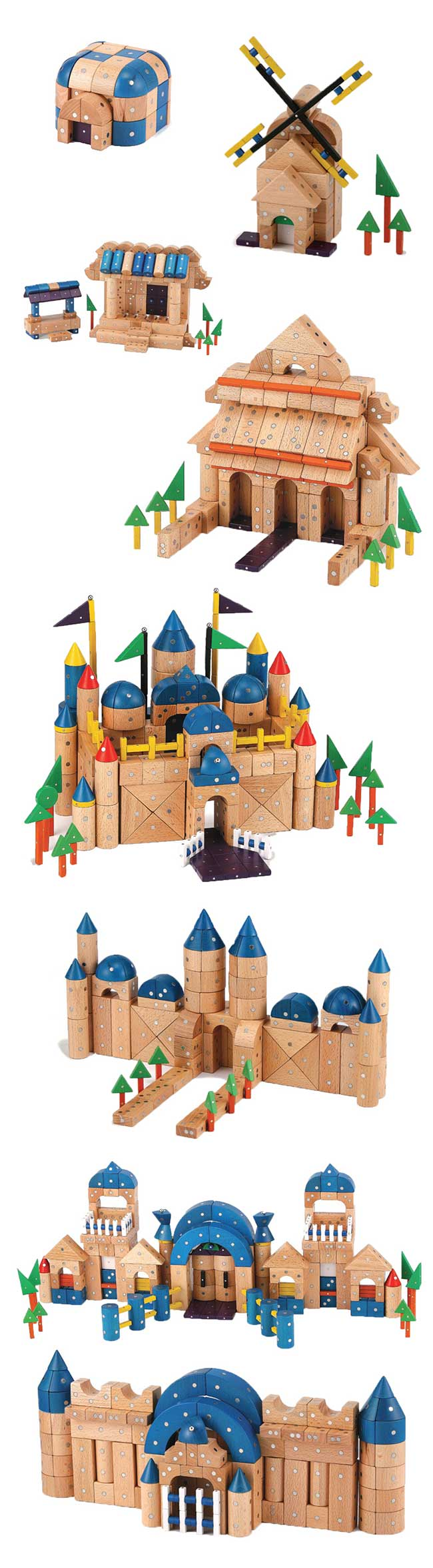 genii creation 智爱 创意磁铁积木拼搭组合 architecture 城堡 289