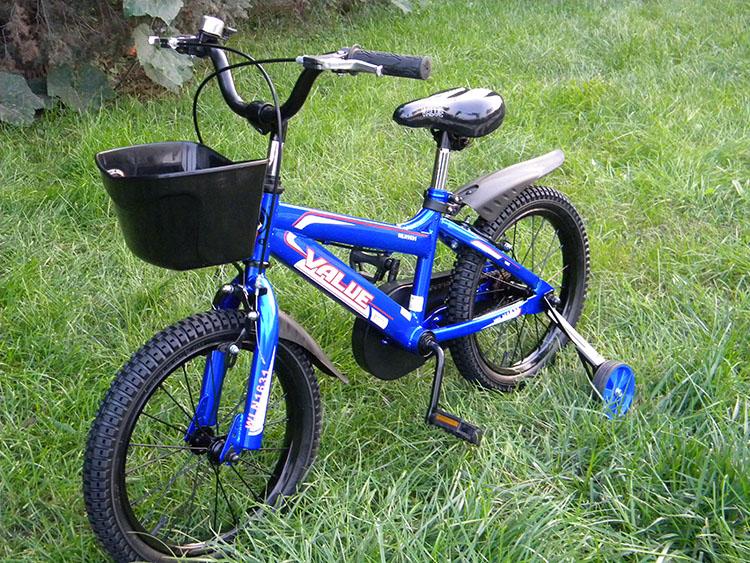 蓝q 儿童自行车14寸1431红色