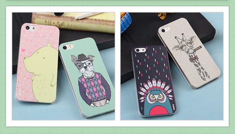 适用型号:苹果 iphone 5/5s手机 可选颜色:康达科夫涂鸦,鹿大亨
