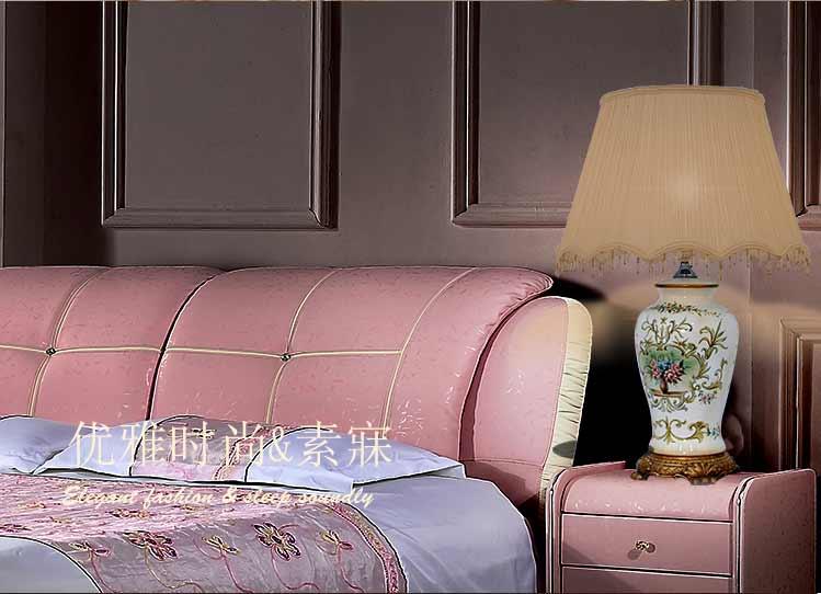 欧式田园风格手绘陶瓷台灯tdt0003b