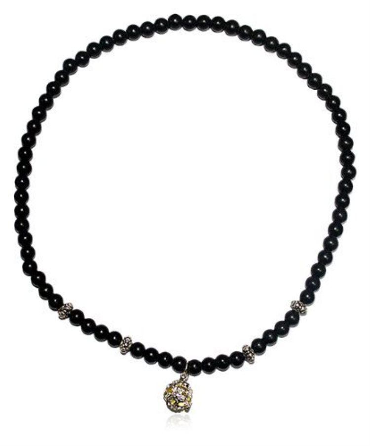 【型号规格】由单颗直径7mm70颗砭石珠子 4颗藏银椭圆珠 1个蜜蜡龙珠