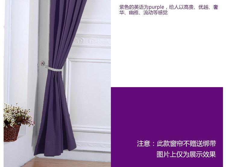 简约客厅窗帘 紫色