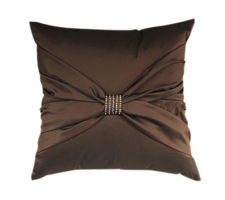 687欧式个性手工制作时尚蝴蝶结烫钻工艺枕靠垫/抱枕