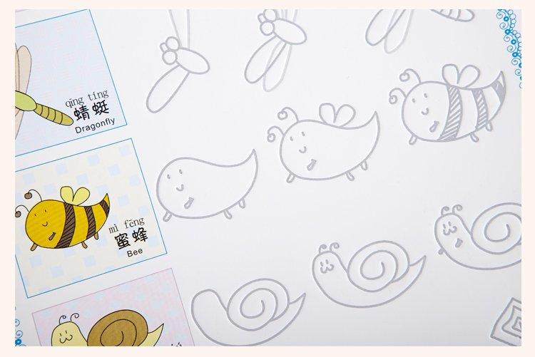 幼儿绘画坐姿简笔画