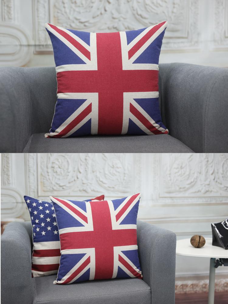 冰岛国旗细麻抱枕45*45cm