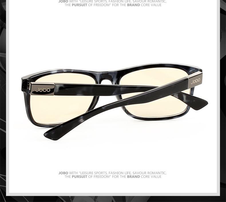 男女通用款 防辐射电脑镜 抗疲劳眼镜(配黑色素片)e0-165 黑花框