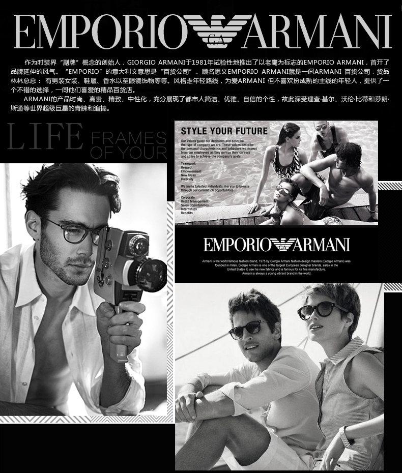 emporio armani 安普里奥·阿玛尼 时尚潮流透明镜框 ea4026 50718h透