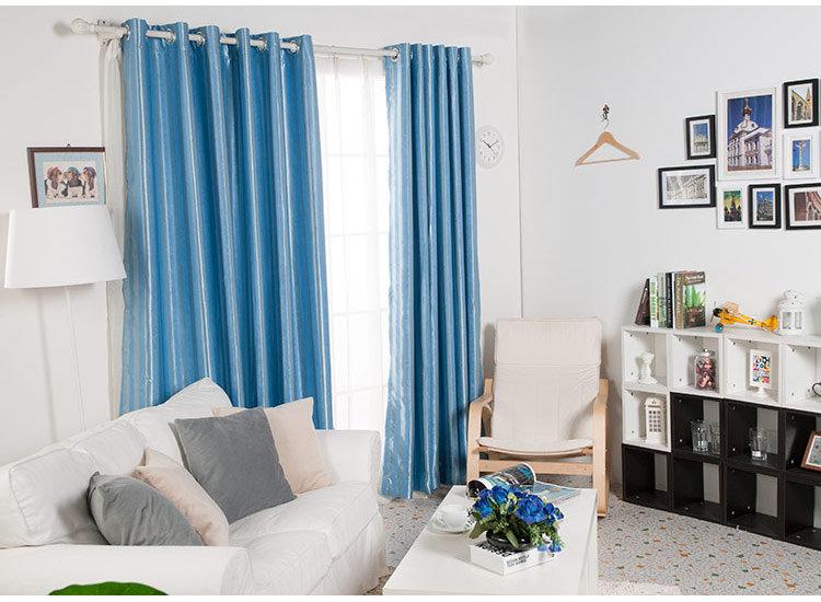 条纹窗帘搭配家具效果图片