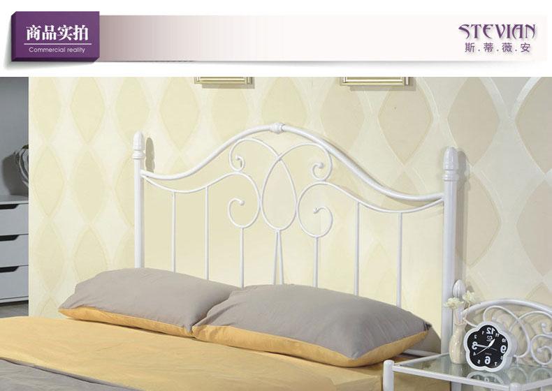 钢艺床型号g818白色铁艺床