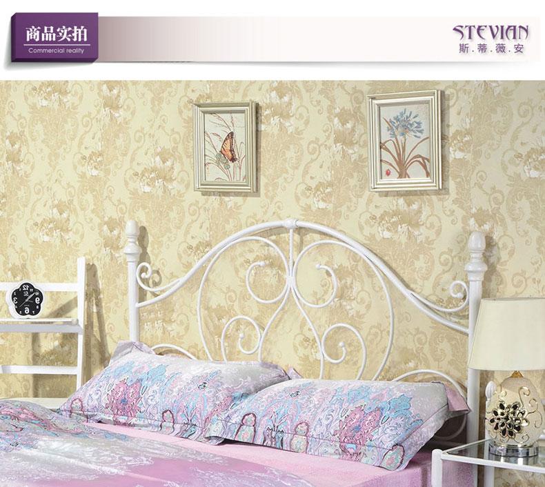 斯蒂薇安 钢艺床型号g917白色铁艺床 宜家 欧式铁床 美式 乡村 复古