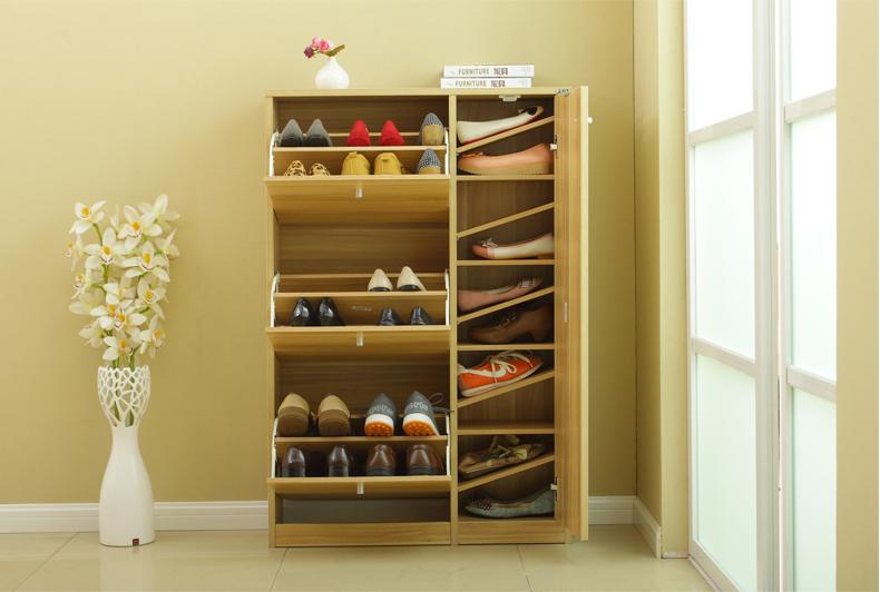 斜放式鞋柜内部结构图