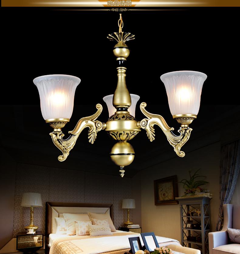 展航 zh802-3 现代欧式宫廷复古雕花吊灯 高贵大气尽显贵族奢华 3灯座