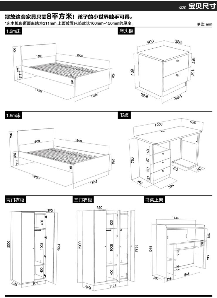 1米5衣柜内部设计图