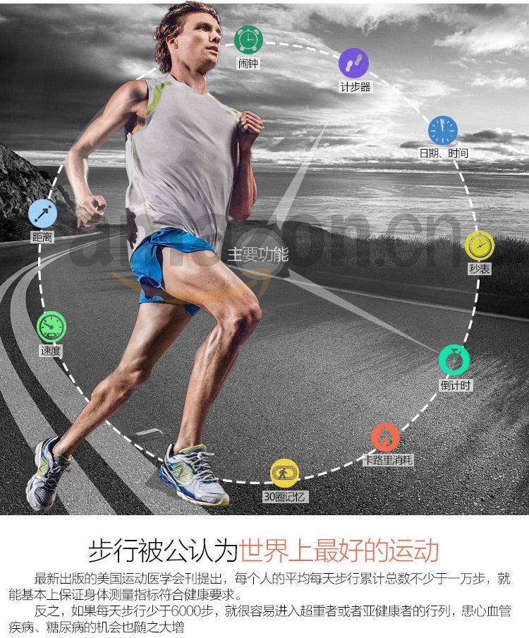 new balance 中性 时尚运动跑步手表 智能计步/健康减脂/卡路里消耗 s