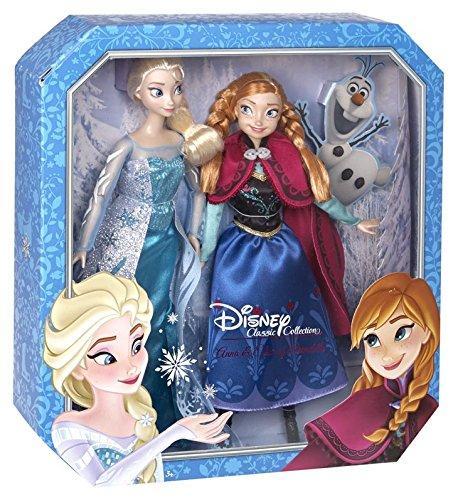 收集冰雪奇缘安娜和埃尔莎娃娃(2组)