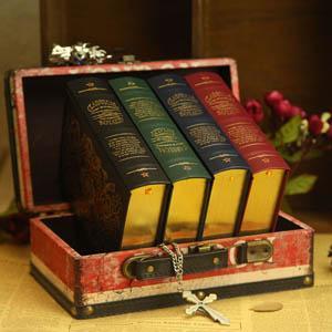 米可兰迪 古典主义超厚十年日记本 复古欧式金边创意记事本人生之书日