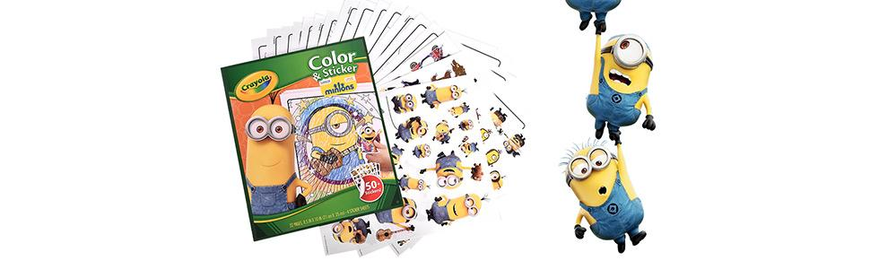 crayola 绘儿乐 小黄人填色贴纸画册涂鸦涂色必备 美国进口