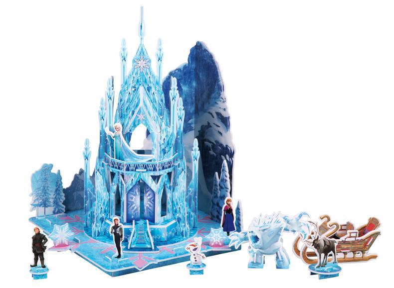 冰雪奇缘3d立体场景拼图益智玩具
