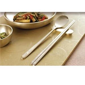 不锈钢长柄金属筷子勺子套装