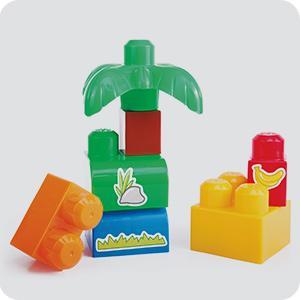 mega 美高 拼搭玩具 费雪美高大块积木盒-动物园