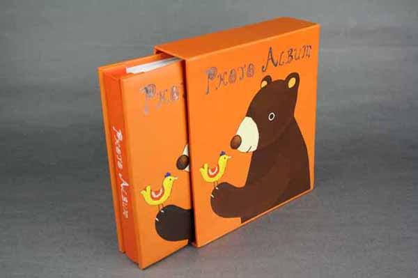 爱德i-one卡通动物造型插页式抽拉纸质相册-可爱熊  产品材质: 1,封面