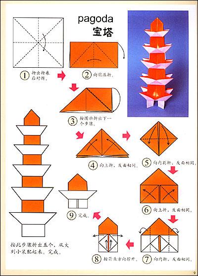手指小猫折纸步骤图