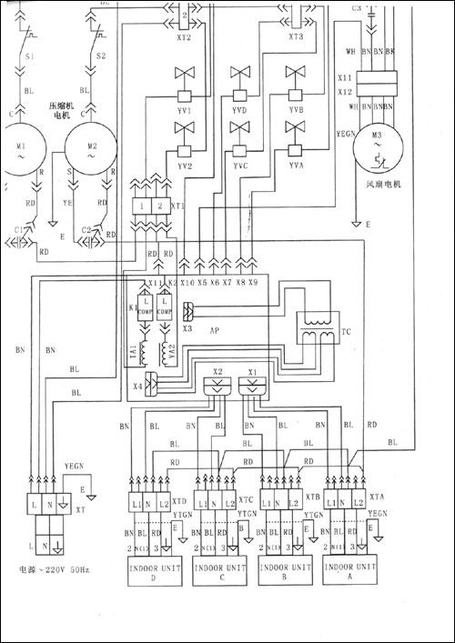 海尔空调柜机接线图