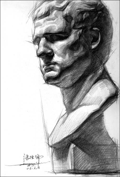《临摹:素描石膏头像写生技法》