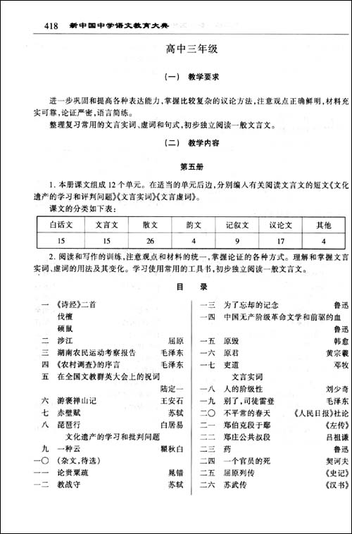 新中国中学语文教育大典/《新中国中学语文教育大典